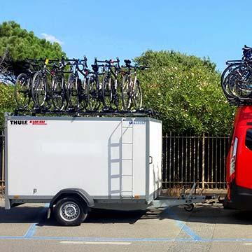 carrello chiuso per bici noleggi