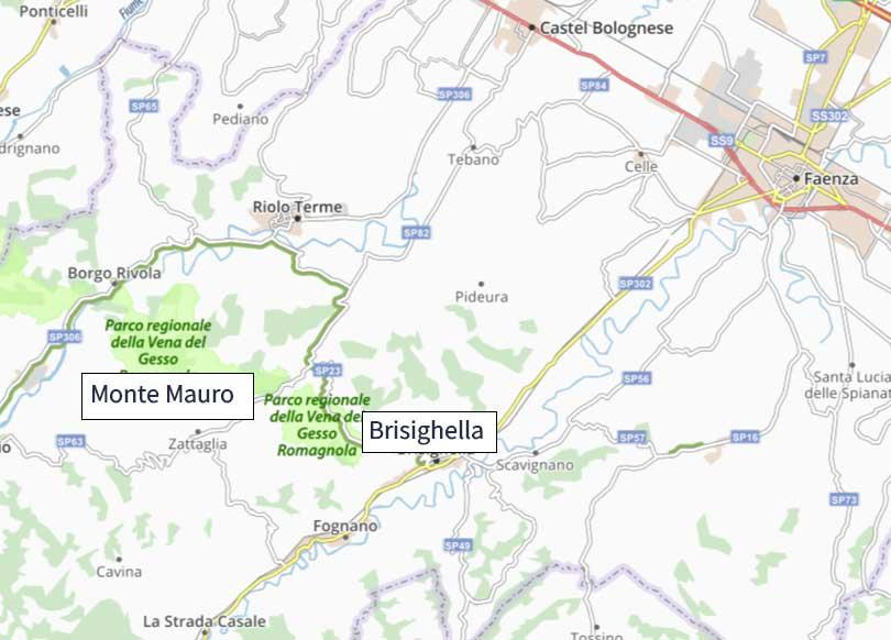 Monte Mauro in bici mappa
