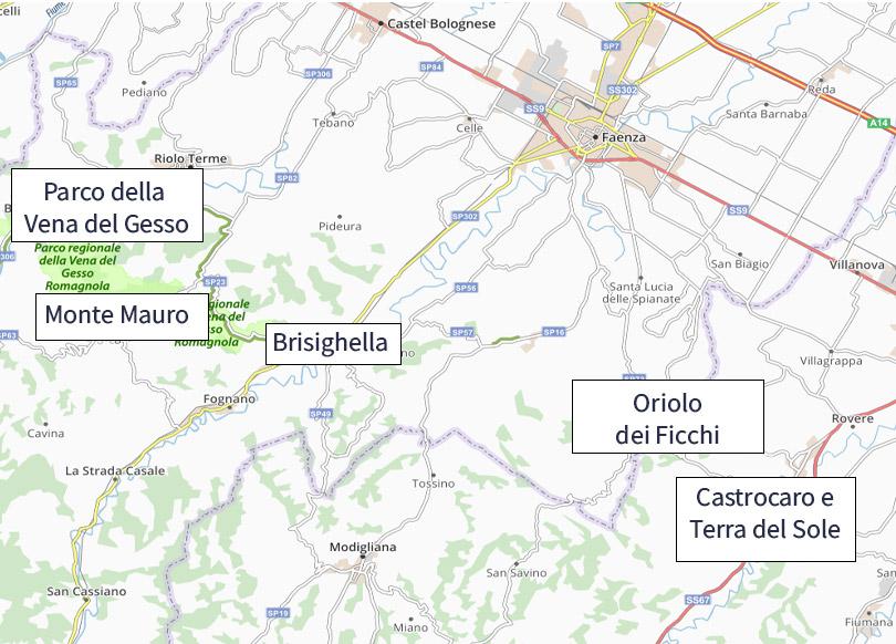 Romagna mia in bici mappa