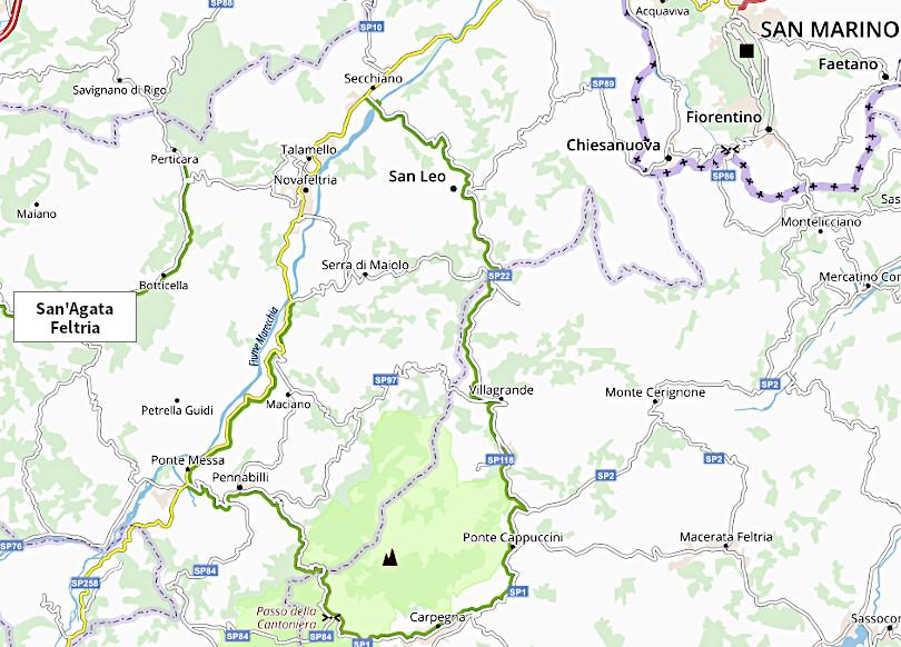 AltoRubicone mappa