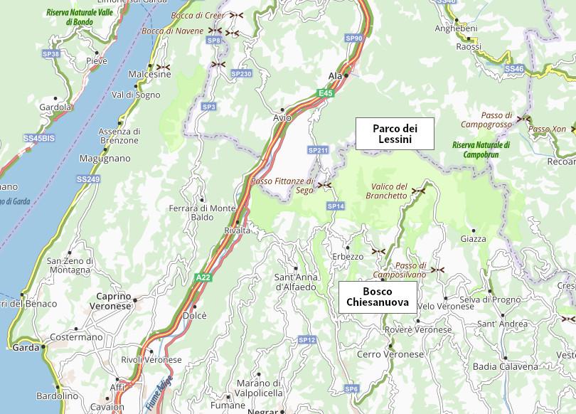 Lessinia mappa