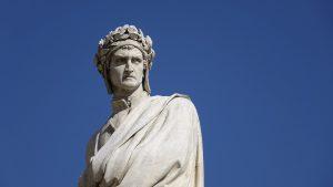 Le vie di Dante in bicicletta - busto del Sommo Poeta